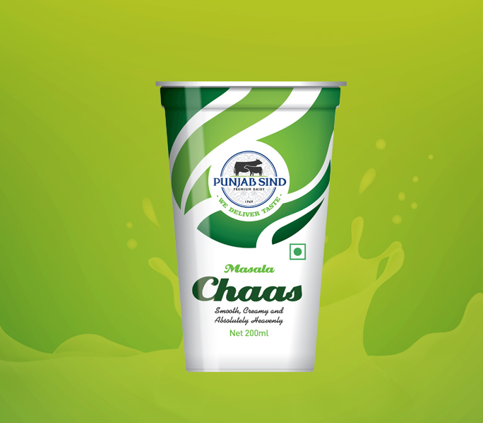 Indian at heart and loaded with health benefits, Chaas from Punjab Sind is made from fresh ingredients blended with aromatic spices to give you a refreshing glass of health!